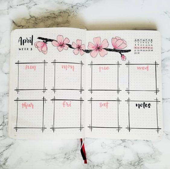 Bullet journal à thème : la vie en rose - Lisly s world