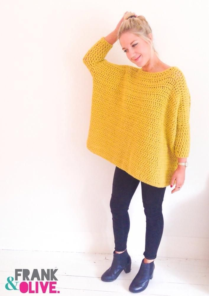 Frank&Olive Oversized Box Jumper #crochetpattern   Love Crochet