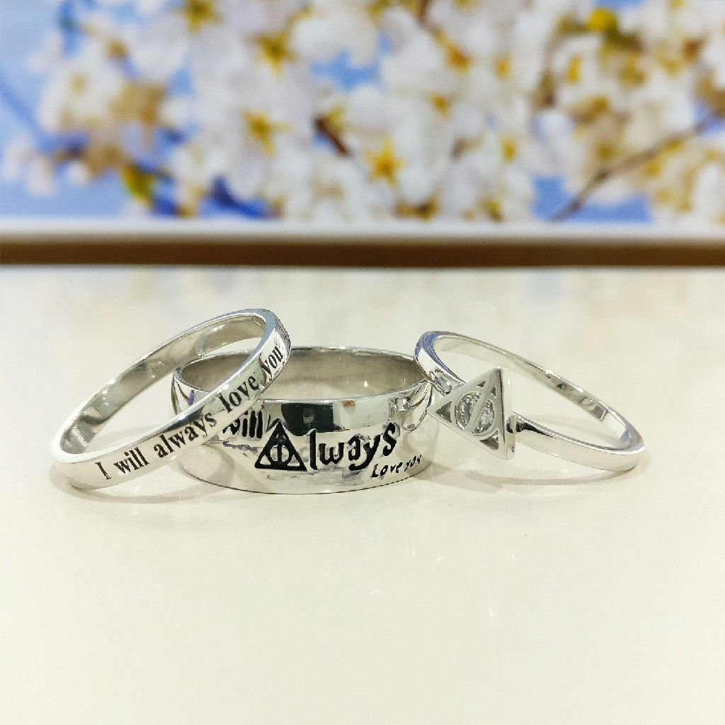 Harry potter engagement ring in 3pcs set new edge jewels