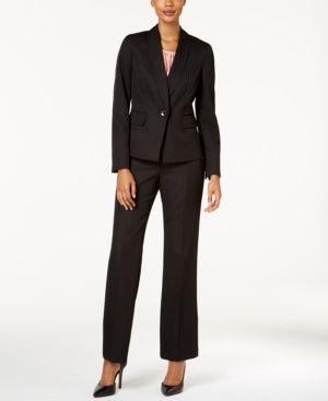 1fb87db00b9 Le Suit Pinstriped One-Button Pantsuit