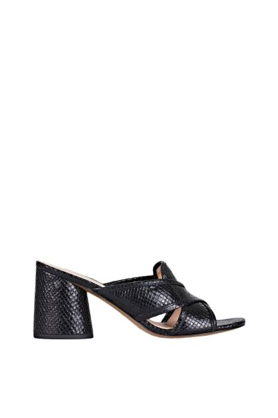 5724ca63349e Marc Jacobs Aurora leather mule with metallic embossed snakeskin finish and  7