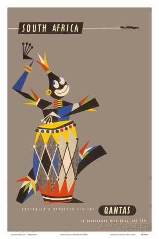 South Africa - Native African Drummer Posters tekijänä Harry Rogers AllPosters.fi-sivustossa