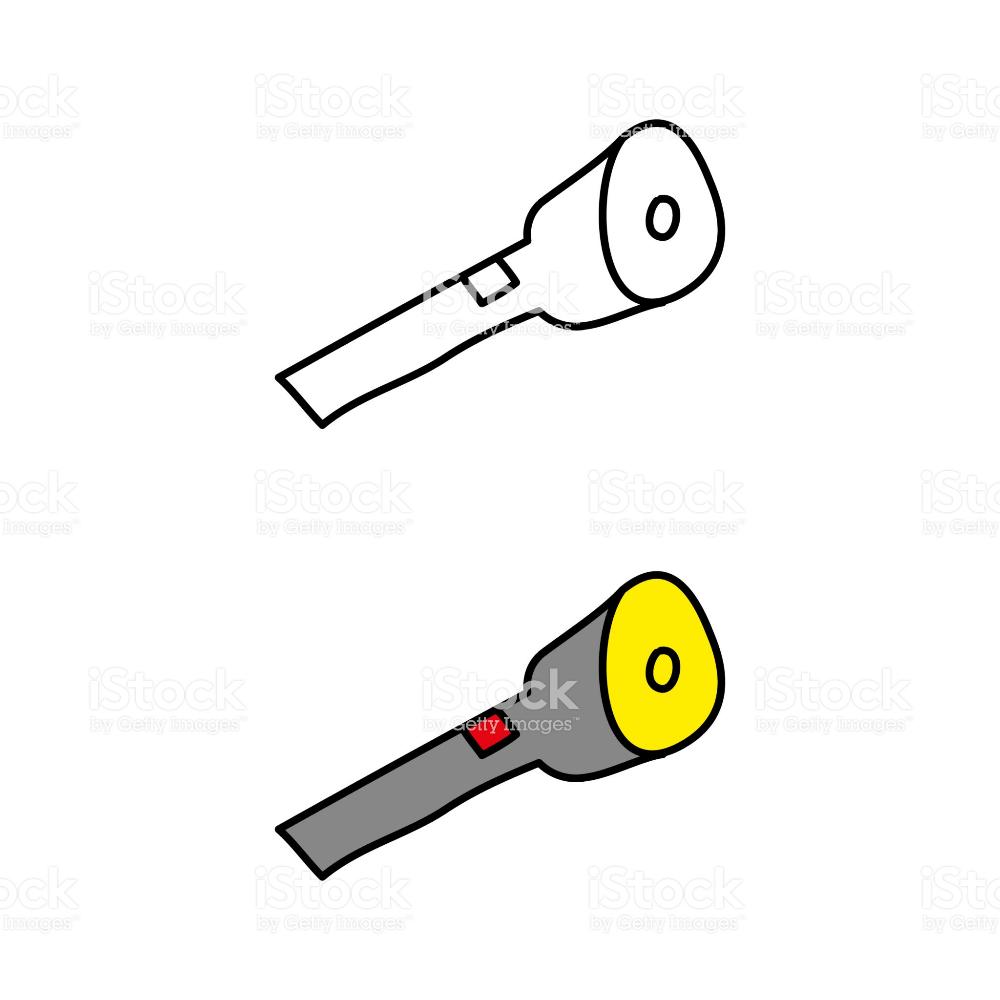 Cartoon Drawing Of A Flashlight Free Vector Art Stock Illustration Cartoon Drawings