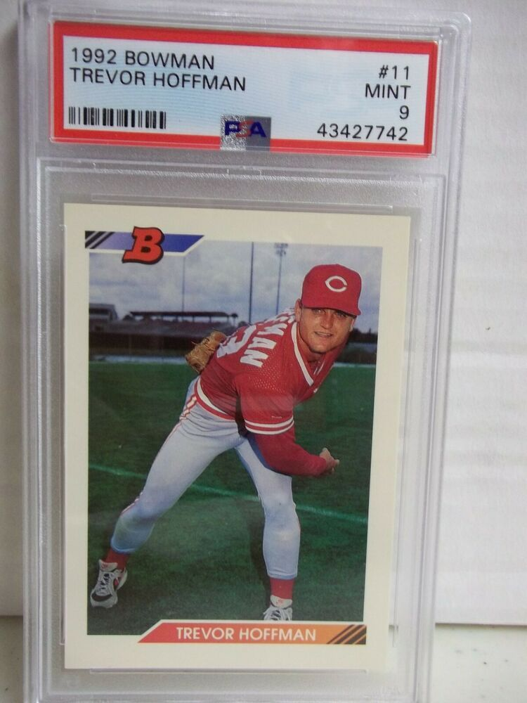 1992 bowman trevor hoffman rc psa mint 9 baseball card 11