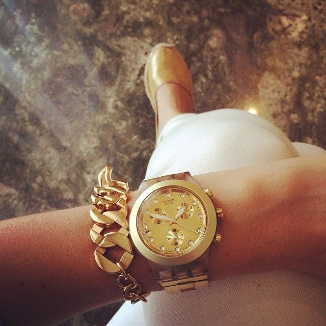2 Yil Garantili Orjinal Kutusunda Ayni Gun Ucretsiz Kargo Swatch Svck4032g Bayan Kol Saati Modelimiz Novasaat Swatch Jewellery And Watches Michael Kors Watch