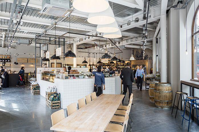 Sourced Market, Wigmore Street, London, restaurant interior design by DesignLSM.