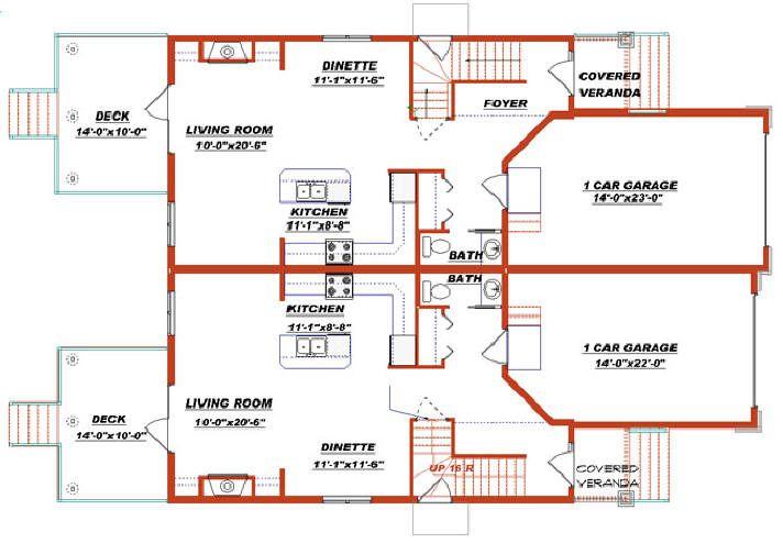 images about Duplex house plans on Pinterest   Duplex plans       images about Duplex house plans on Pinterest   Duplex plans  Duplex house and Duplex floor plans