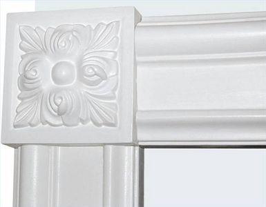 Interior Door Trim With Corner Blocks No Miter Saw Needed Door Trims Interior Window Trim Door Casing