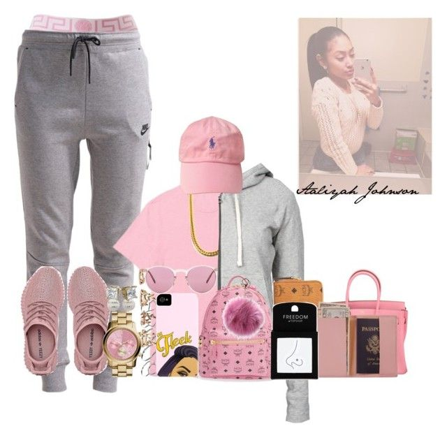 """i.'m back like i never left ~!Aaliyah"" by obey-957 ❤ liked on Polyvore featuring NIKE, Ralph Lauren, Hermès, MICHAEL Michael Kors, Chanel, ASOS, Forever 21, Oliver Peoples, James Perse and MCM"