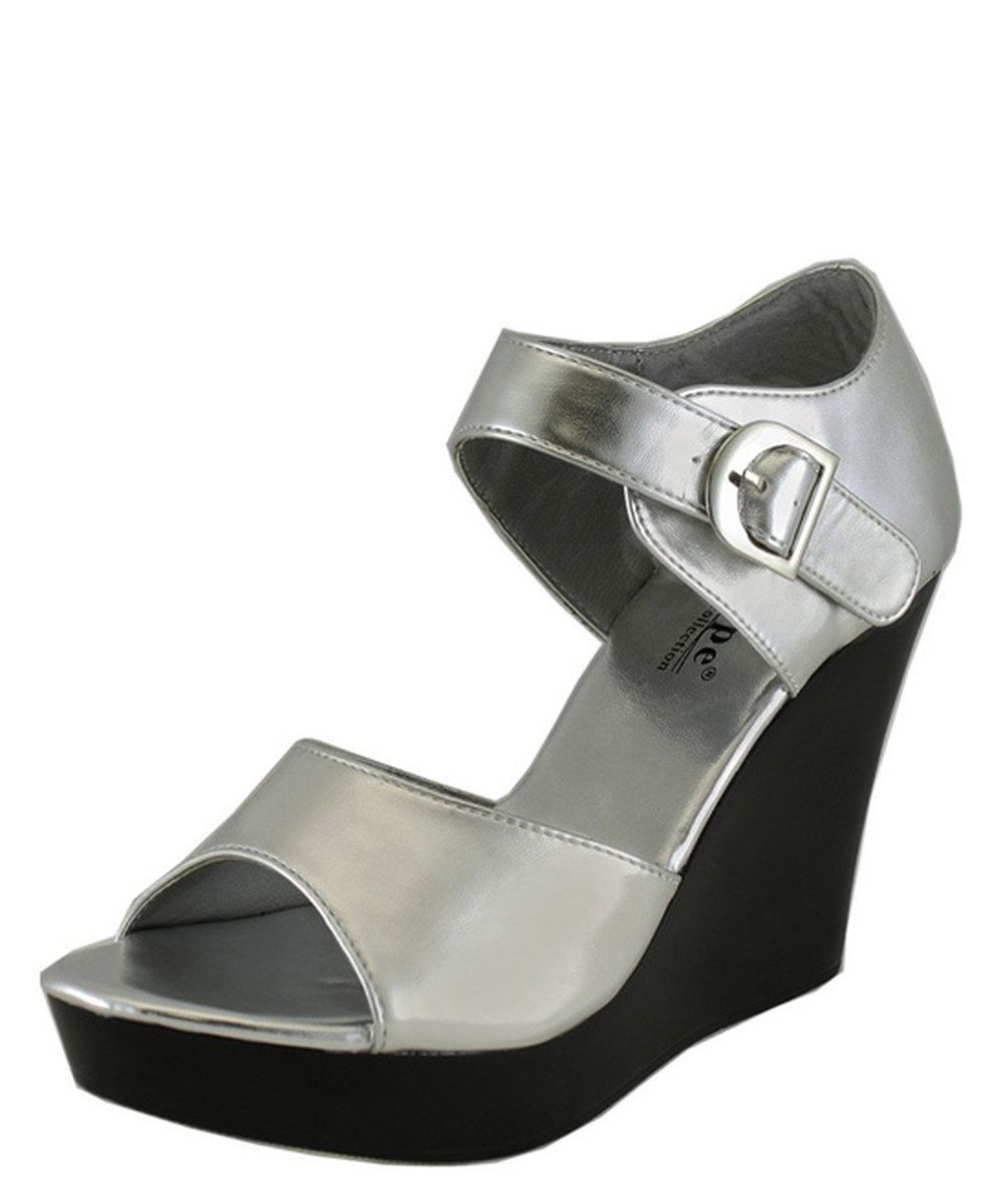 e4bb9ff60e6c Look at this Agape Silver Portion Platform Wedge on  zulily today ...