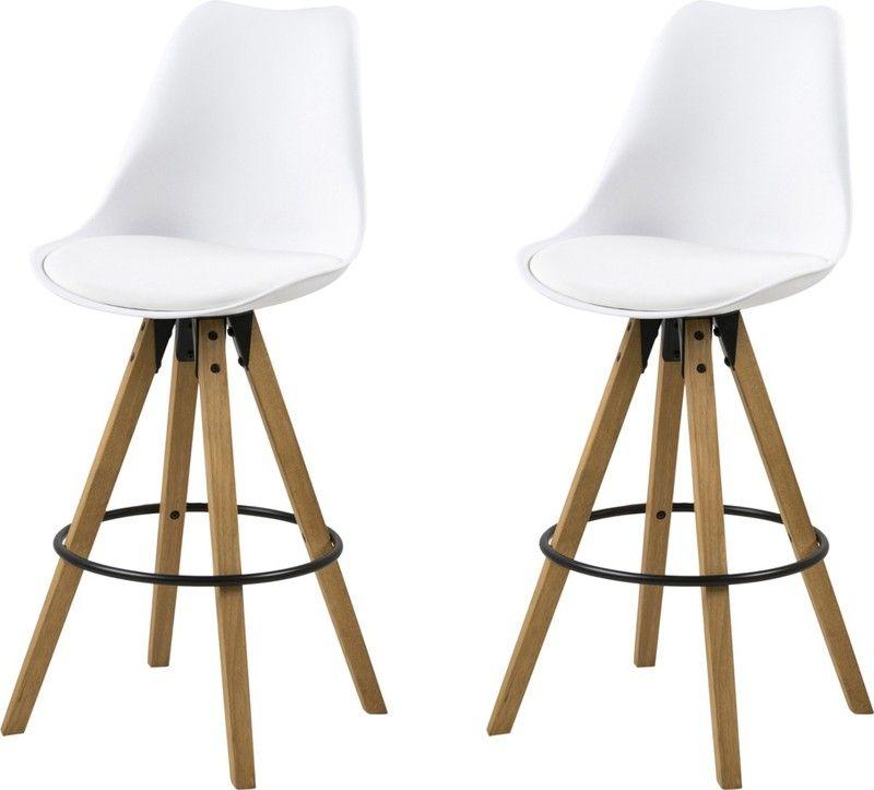 Barkruk Set Met Tafel.24designs Set 2 Barkrukken Dex Zithoogte 75 Cm Witte Zitting