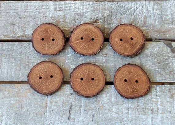 Handmade Wood Buttons6 large  blackjack tree by forestinspiration, $8.00
