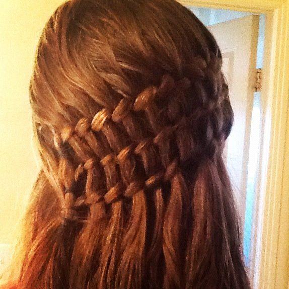 Triple Twisted Waterfall Braid R Pics Hair Styles Waterfall Braid Long Hair Styles