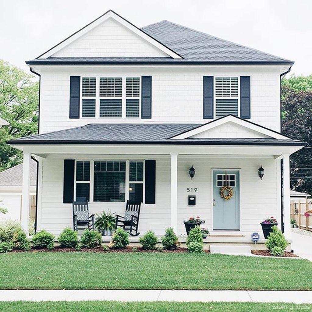 70s Home Exterior Remodel: 70 Simple Modern Farmhouse Exterior Design Ideas In 2020