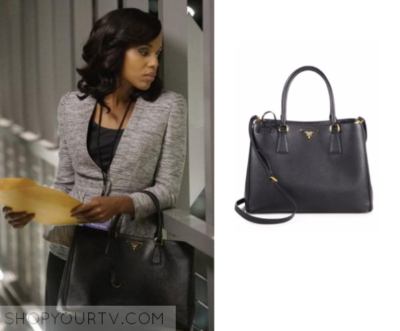 283f731f9562 ShopYourTv:Scandal: Season 5 Episode 15 Prada Saffiano Medium Tote ...