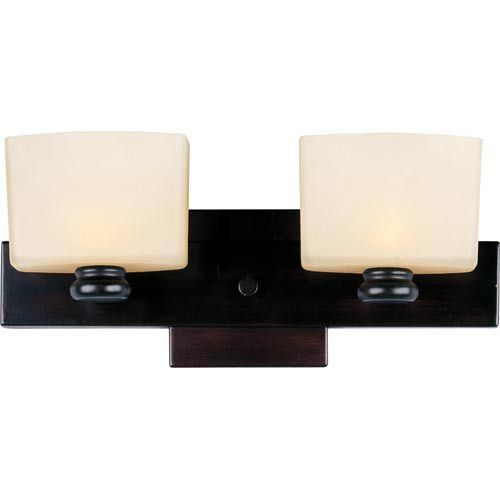 Photo of Maxim Lighting International Essence Oil Rubbed Bronze Two Light Bathroom Lamp 9002dwoi | Bellacor