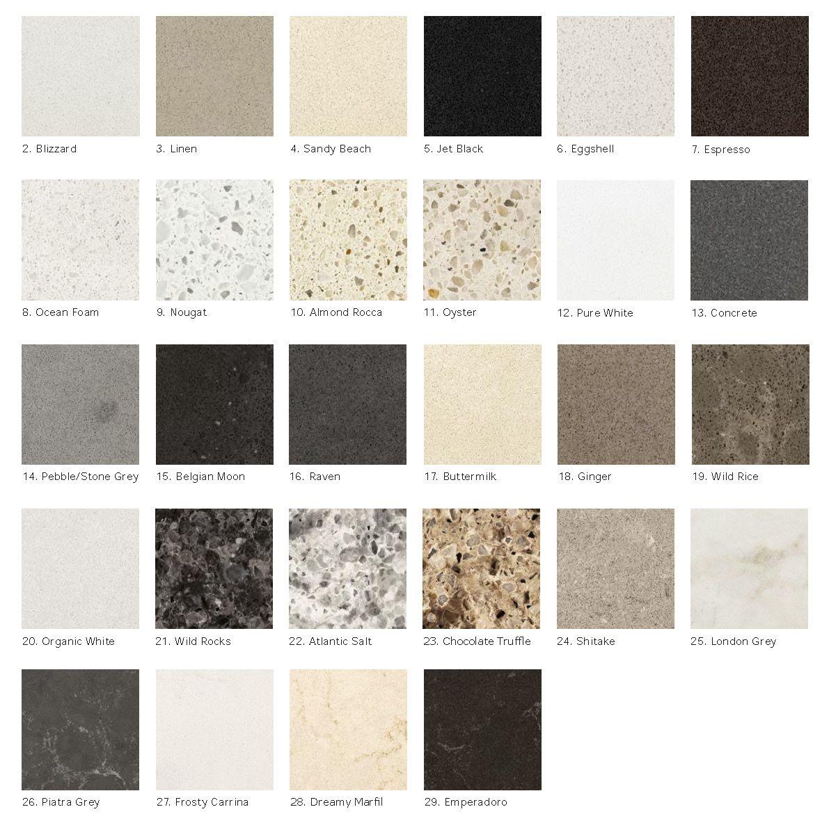 Quartz Countertop Color Chart
