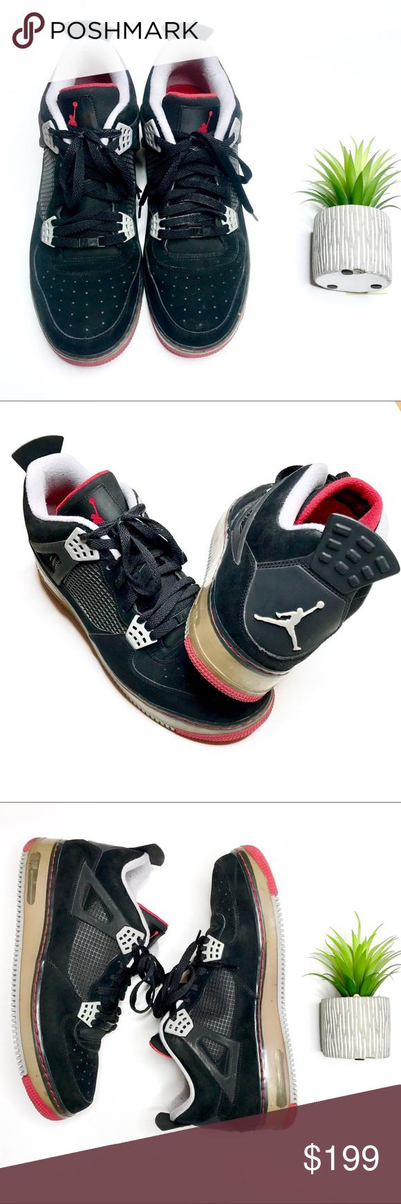 Nike Air Jordan IV Shoes Jordan Air Force Retro 4 Fusion