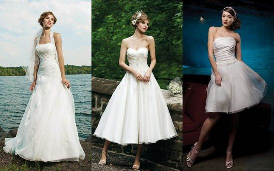 The middle dress - perfect for an outdoor, afternoon wedding!