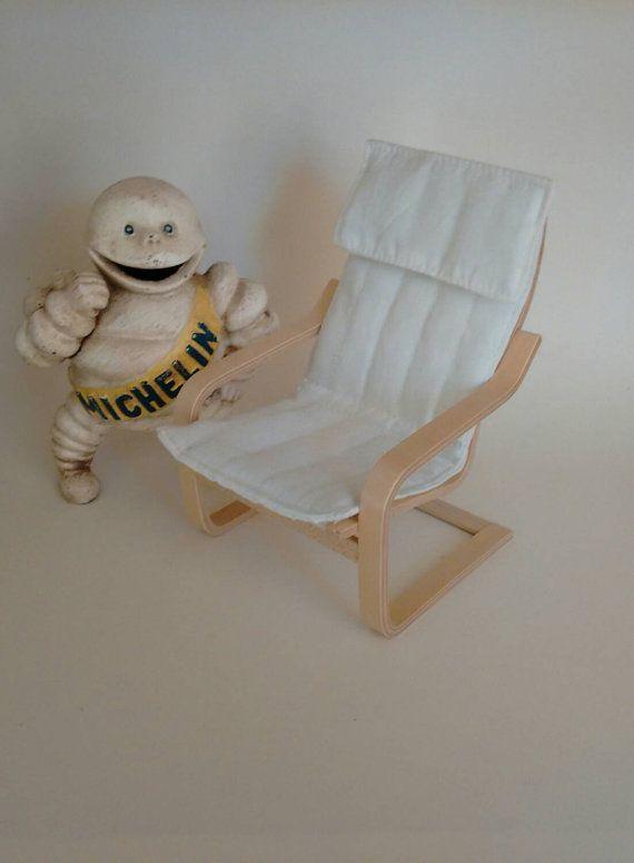 ikea miniature furniture. Ikea Miniature Poang Chair 1/6 Scale Model Modern Designer Furniture