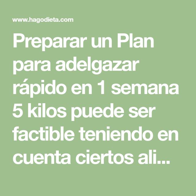 Plan de adelgazamiento rapido