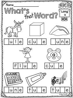 Long U Worksheets and Activities {NO PREP!} | Long Vowels with