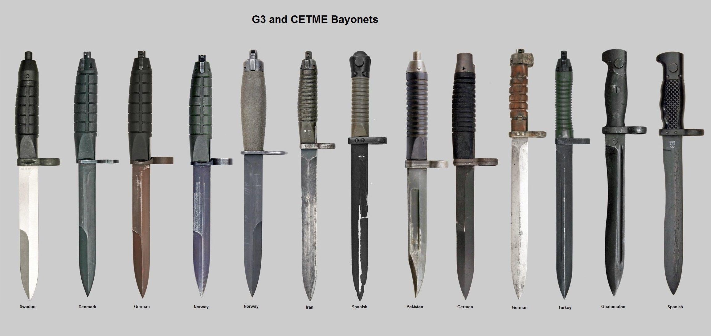G3 And Cetme Bayonets