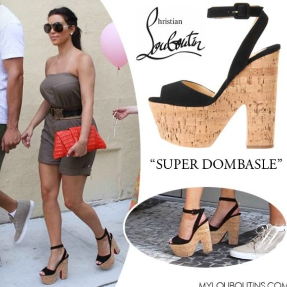 Christian Louboutin Duper Dombasle Wedge Celebs In The Christian