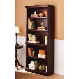 5 shelf bookcase cherry walmart
