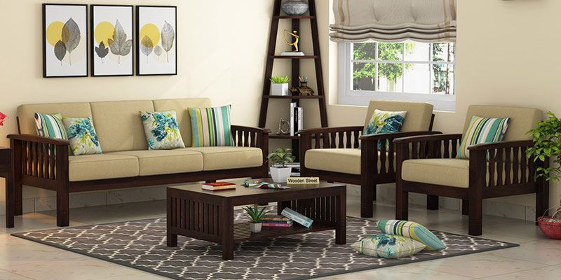 Wooden Sofa Set Buy Wooden Sofa Set Online In India Upto 55 Off In 2020 Wooden Sofa Designs Living Room Sofa Design Sofa Set Designs