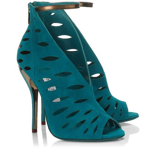 jimmy choo tamber blue bottle suede and bronze mirror leather rh pinterest com