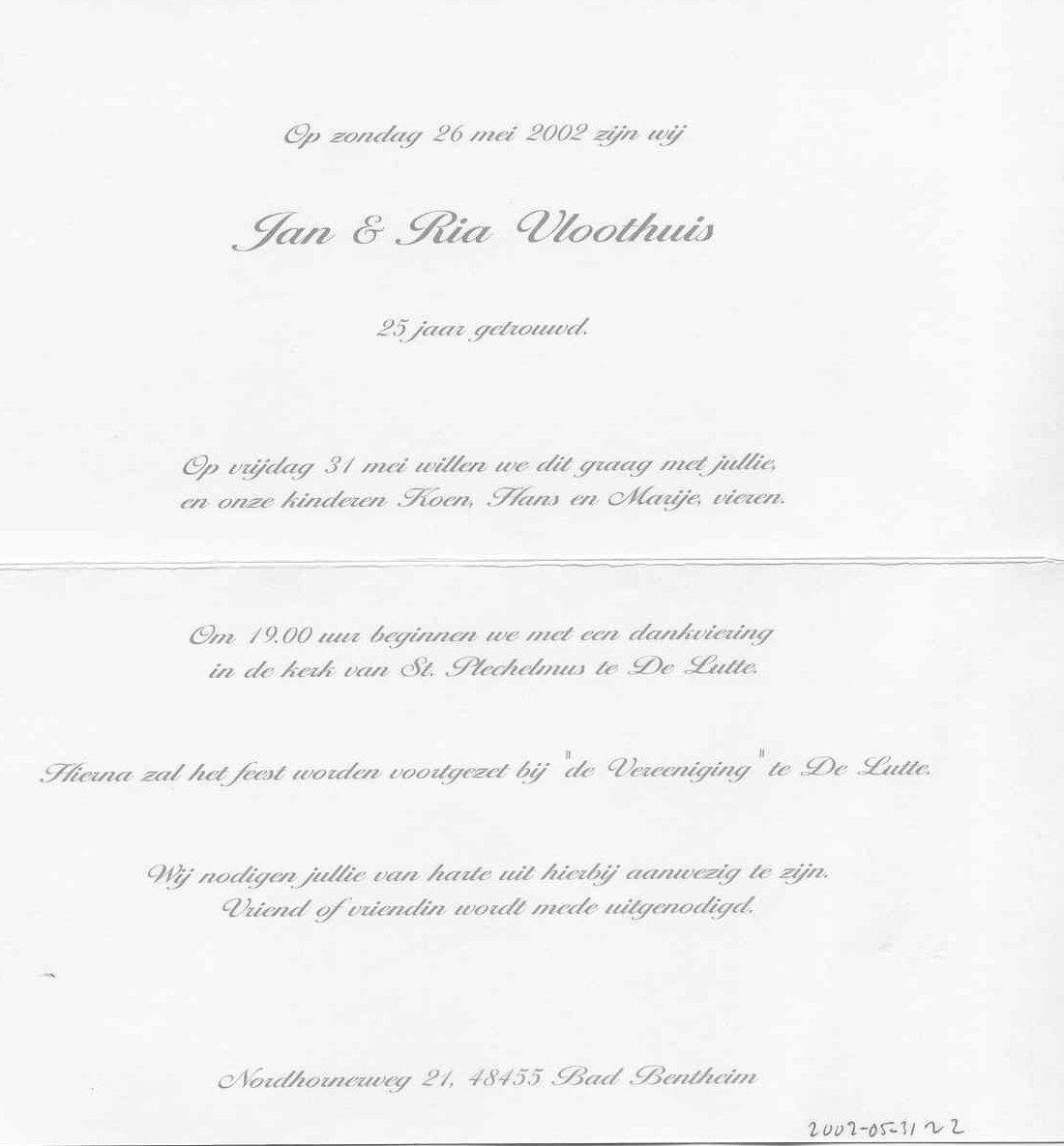 uitnodiging huwelijk tekst