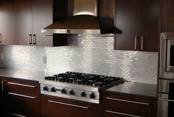 Contemporary Kitchen, Lovely Contemporary Backsplash 5 Stainless Steel Tile  Backsplash Ideas Backsplash Ideas For Kitchen Amazing Modern Kitchen  Backsplash: ...