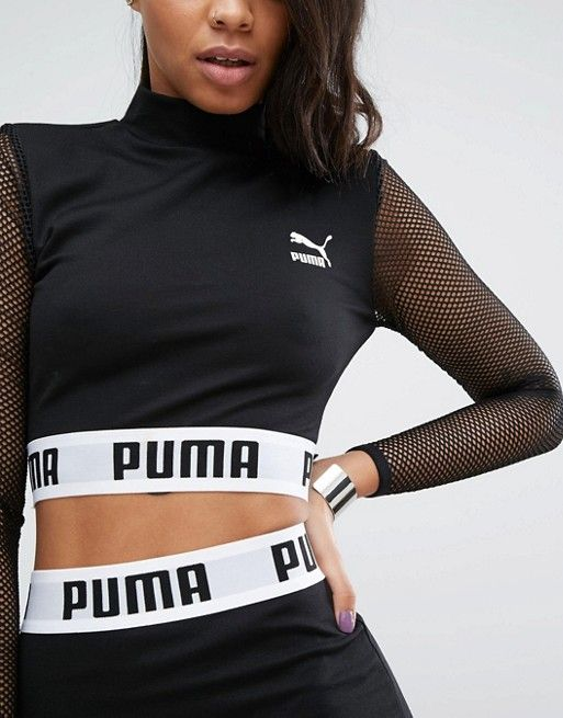 bd75c6b1118 Puma Cropped Mesh Top Co Ord | спорт in 2019 | Puma outfit, Sporty ...