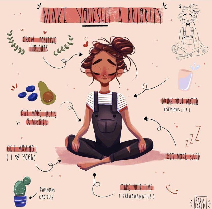 Machen Sie sich eine Priorität #mentalhealth #selfcare #selflove #lifestyle #illustrat ... #illustrat #lifestyle #machen #mentalhealth #prioritat #selfcare #selflove