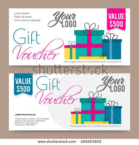 Creative modern Gift or Discount Voucher, Coupon or Certificate - Creative Certificate Designs