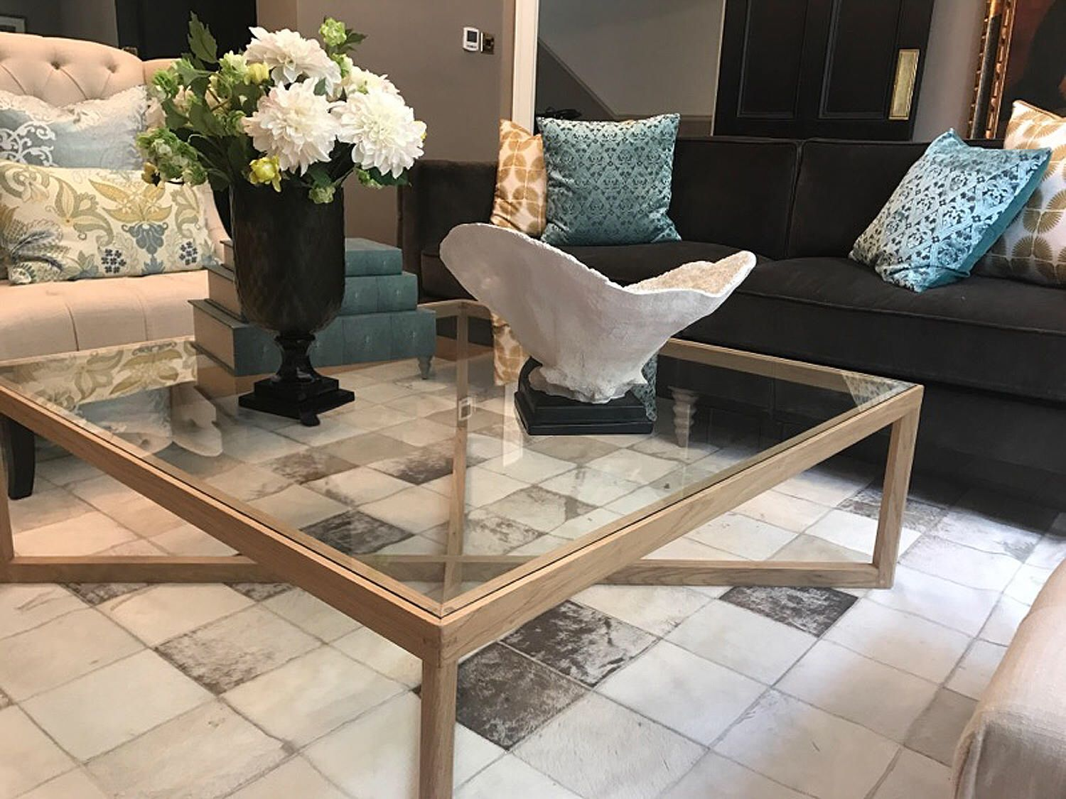 Scandinavian Retro Style Wood And Glass Coffee Table By Reclaimedbespoke On Etsy Https Www Etsy Com Listing Coffee Table Furniture Industrial Style Furniture [ 1125 x 1500 Pixel ]