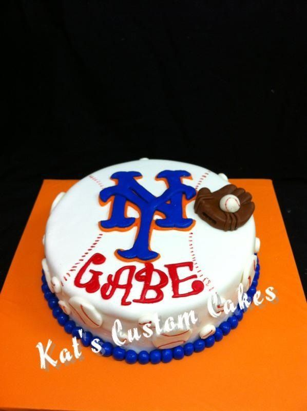 New York Mets Baseball Cake Party Boy Birthday