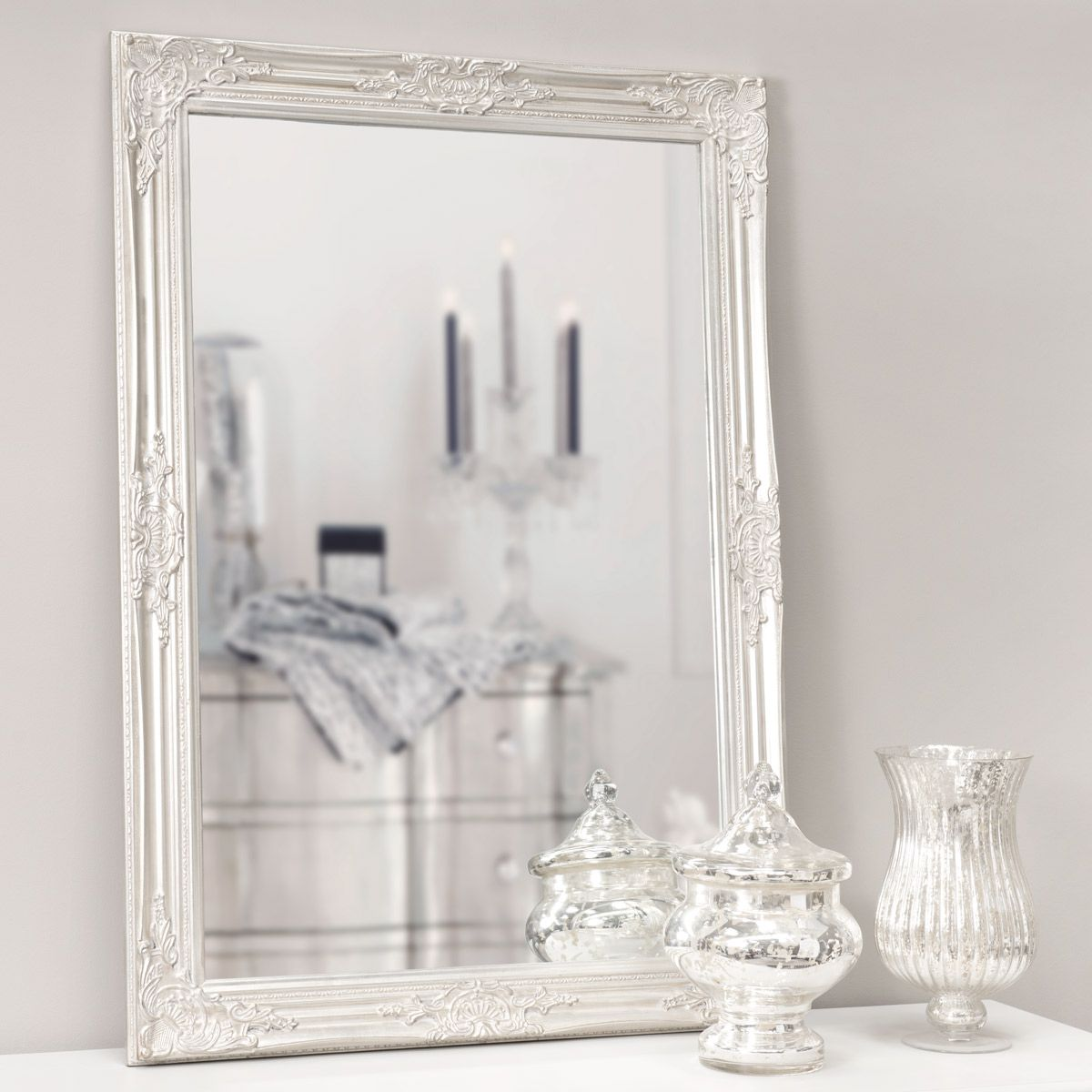 shop for the enzo wooden mirror in silver h 104cm with furnishfulcouk