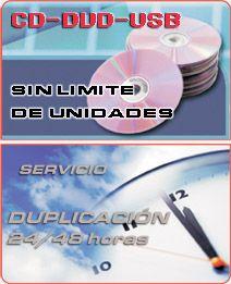 Duplicación de CD's, DVD's y Memorias USB