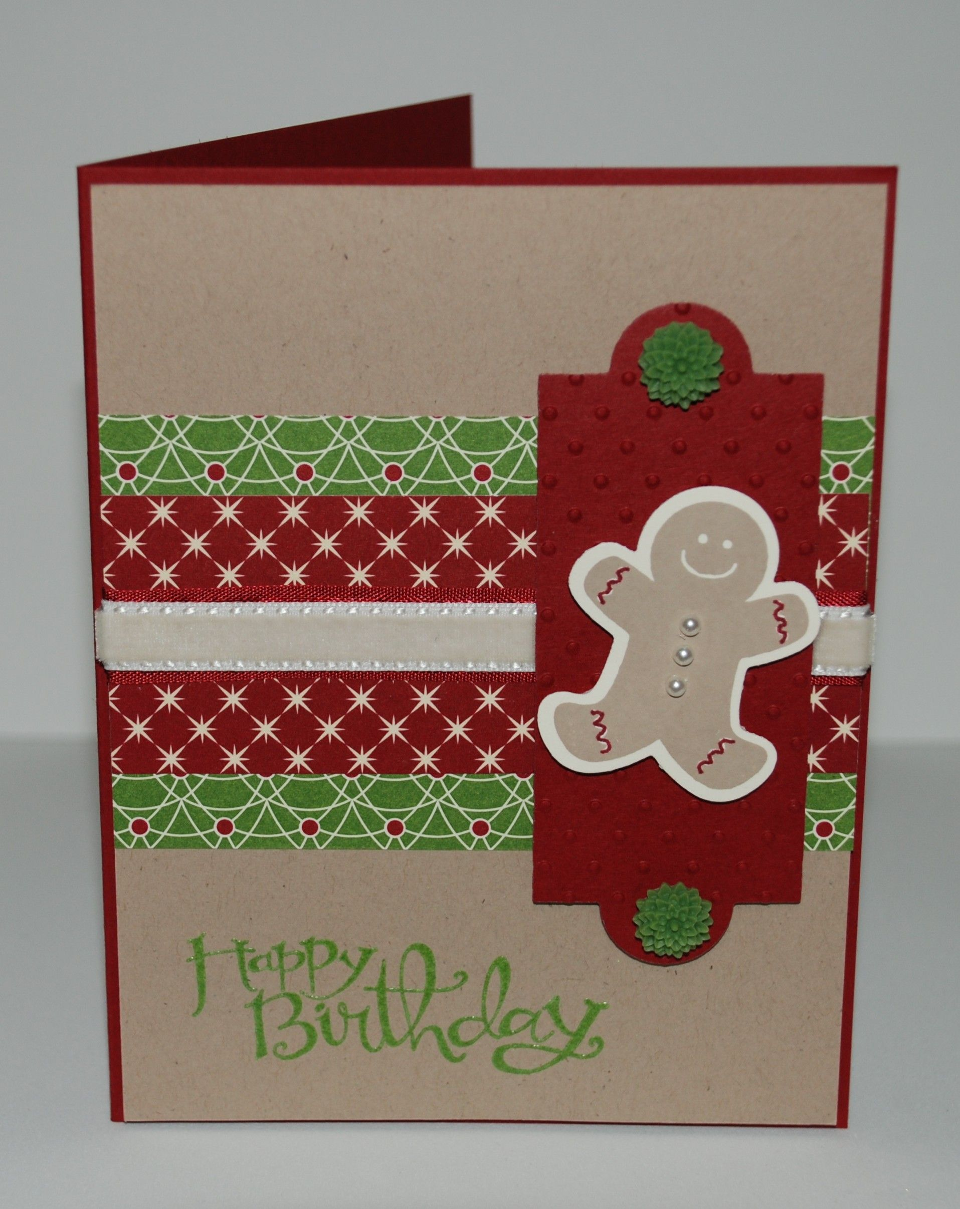 A birthday card for my granddaughter using Stampin' Up! sets 'Scentsational Season' and 'Sassy Salutation' and 'Be of Good Cheer' Designer Series Paper.