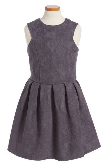 a7a9b4913da Miss Behave Chiara Faux Suede Dress (Big Girls) available at  Nordstrom