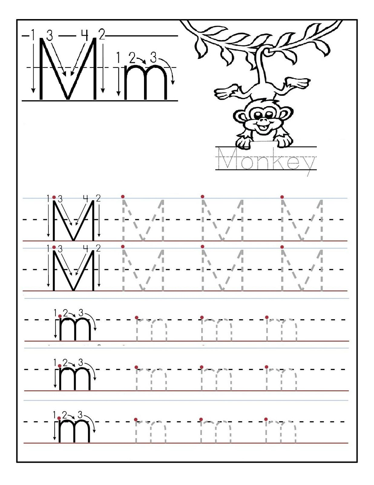 Preschool Printable Worksheets Alphabet M