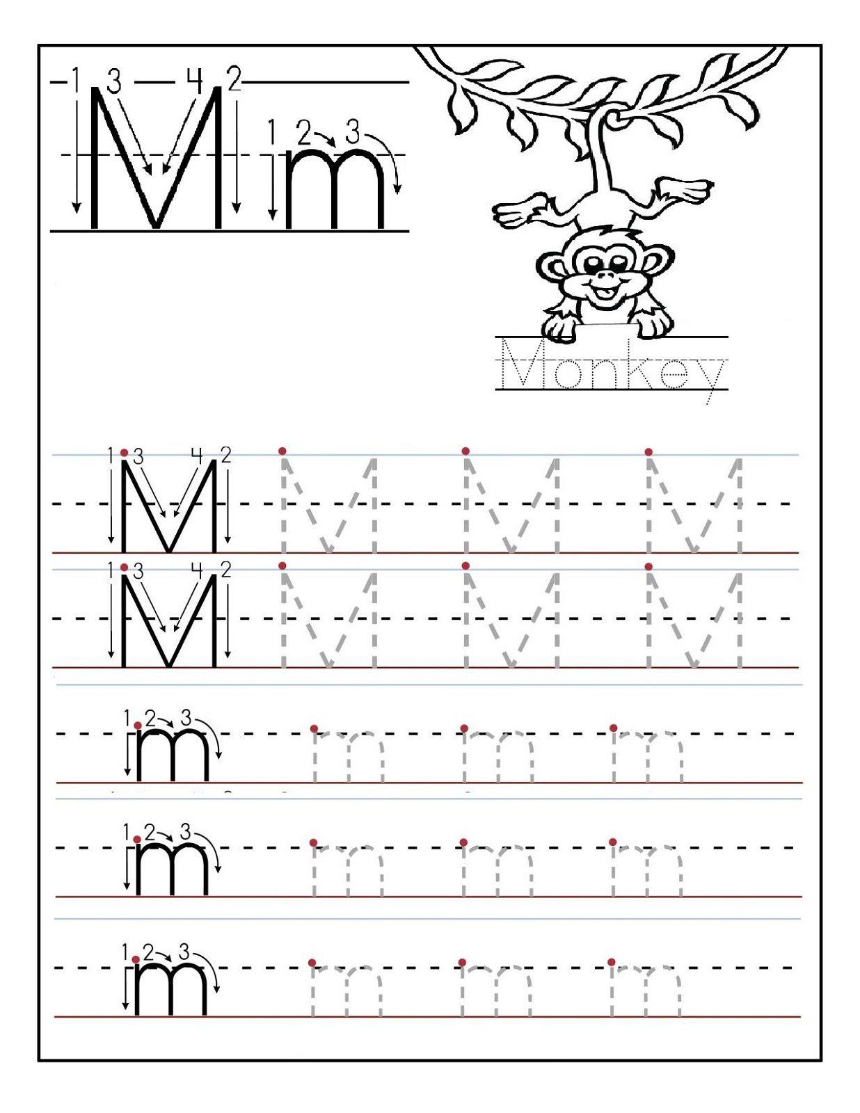 Words Starting With Letter M Letter M Worksheets Lettering Preschool Letters