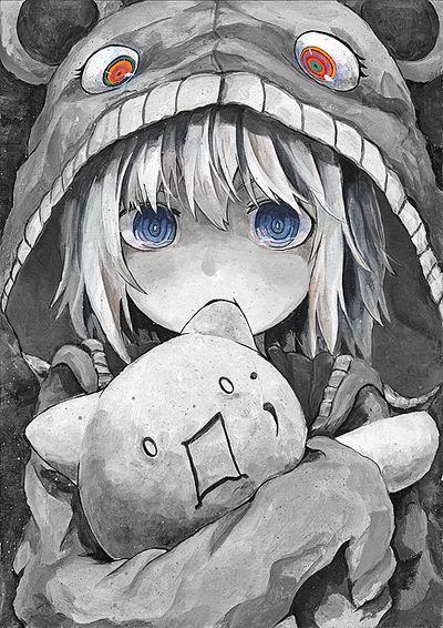 Creepy but cute monochrome Anime Girl   Characters   Pinterest ...