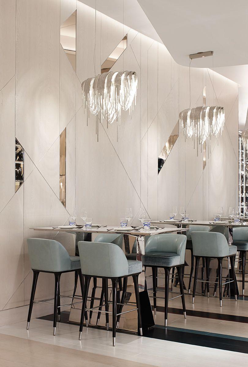 Pingl par chlo poznanski sur d co caf resto en 2019 interieur design h tel design et design for Mobilier de luxe contemporain