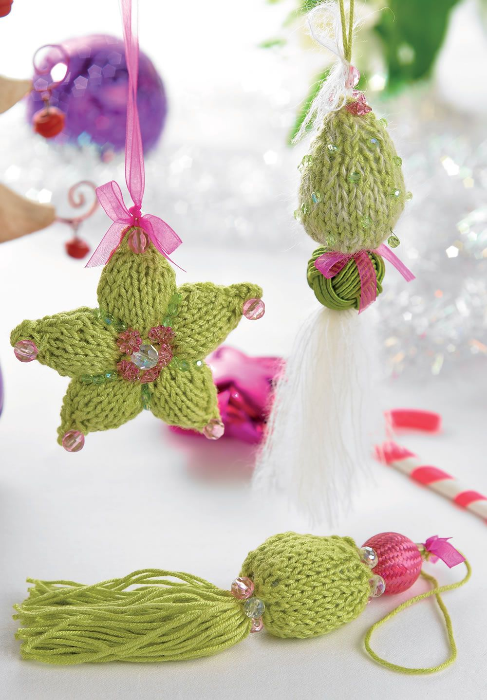 free pattern- \'Neva & Siria\' two Beaded Knit ornaments (or year ...
