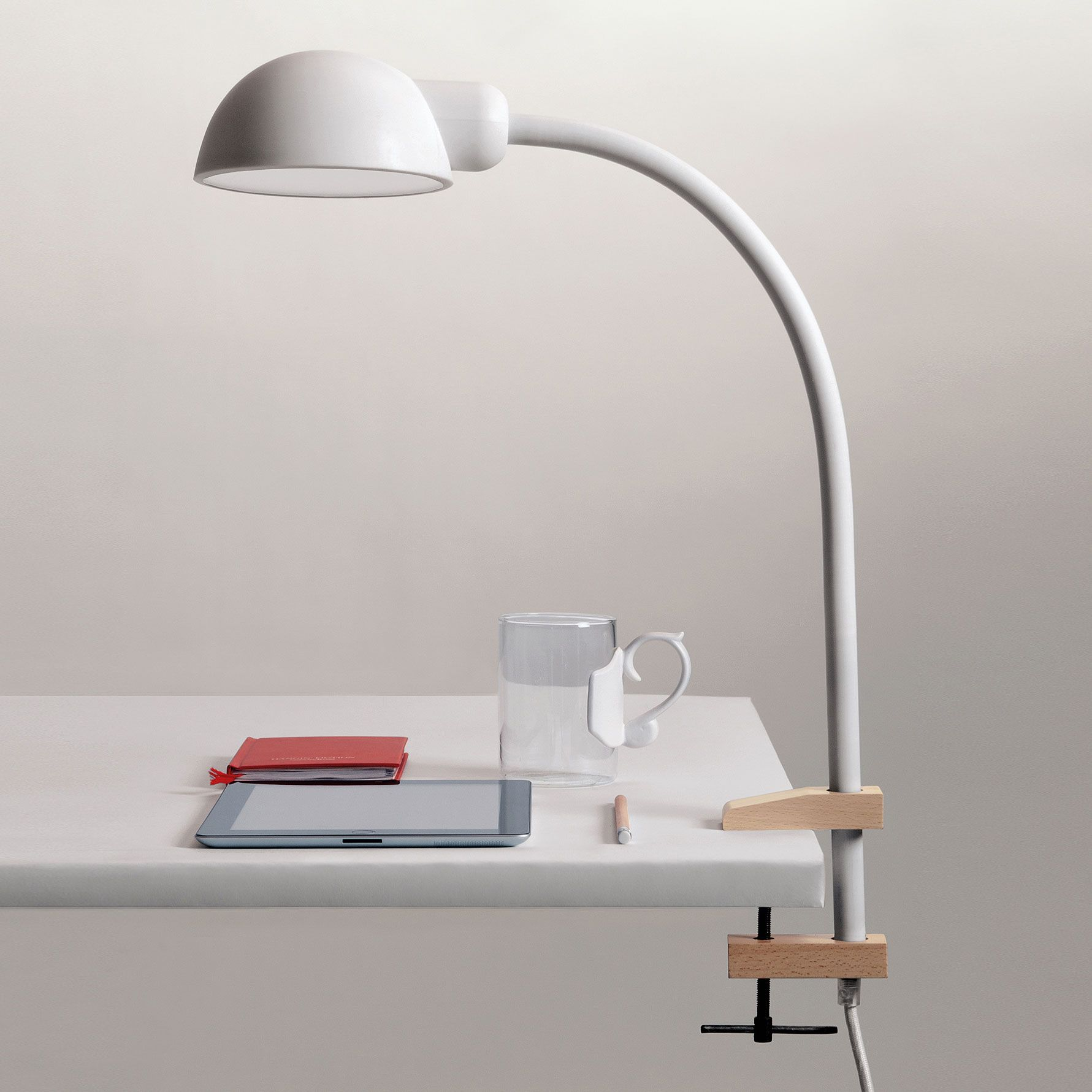 Lampe de bureau tactile et flexible en silicone  visser Softclamp