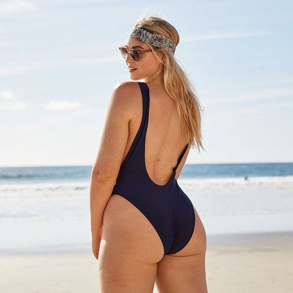 63385c856f93c Aerie One Piece Super Scoop Swimsuit ($35) ❤ liked on Polyvore featuring  swimwear,