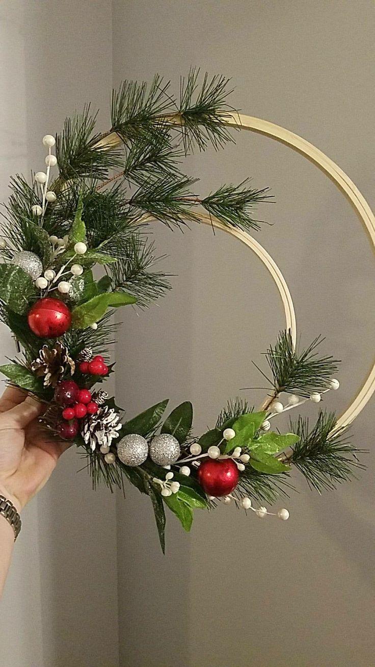 Embroidery Hoop Christmas Wreath Christmas Wreaths